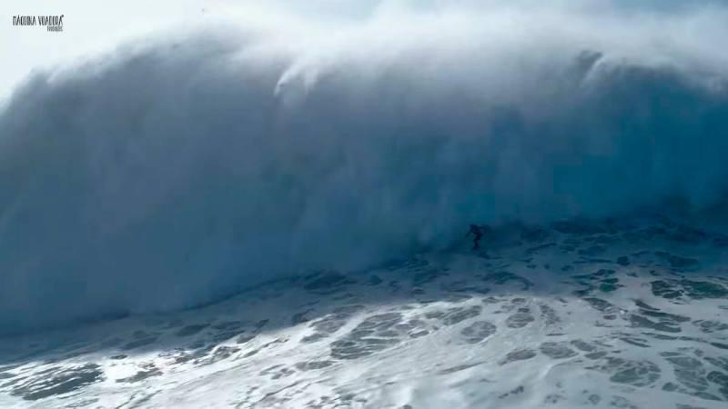 Imagen de Axi Muniain en Nazaré, olón y rescate | Surf AHIERRO!